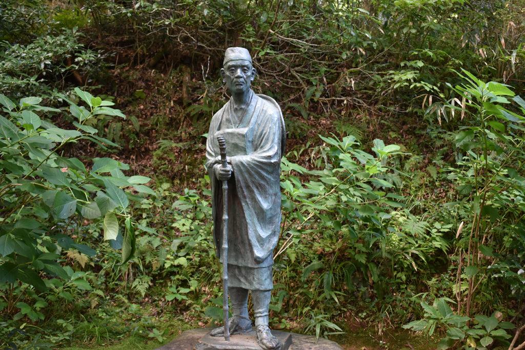 中尊寺の松尾芭蕉