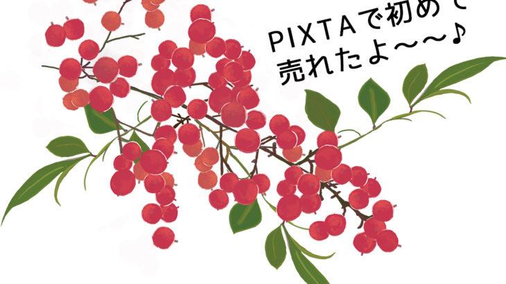 PIXTAで初めてイラスト素材が売れました〜♪